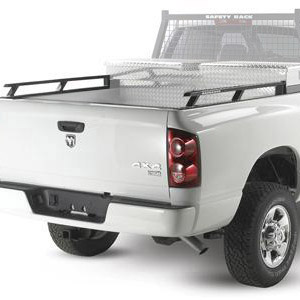 BackRack 80517tb Industrial Grade Toolbox Side Rails 2002-2013 Dodge Ram Long Bed