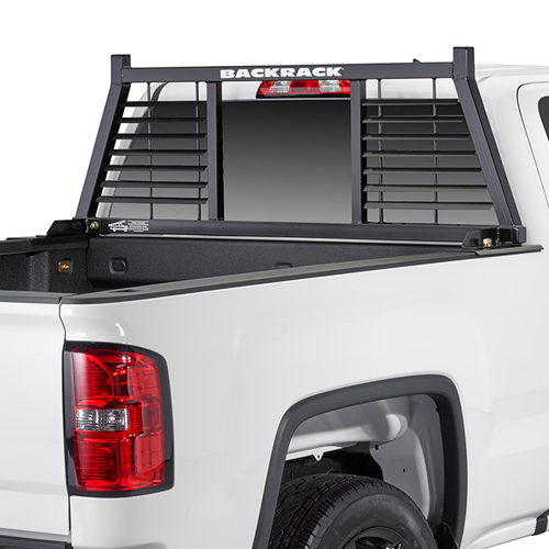 BackRack Half Louvered Pickup Truck Window and Cab Guard Headache Rack
