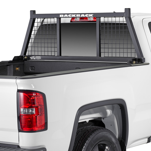BackRack Half Safety Rack Pick Up Truck Cab Window Guard & Toolbox Kit