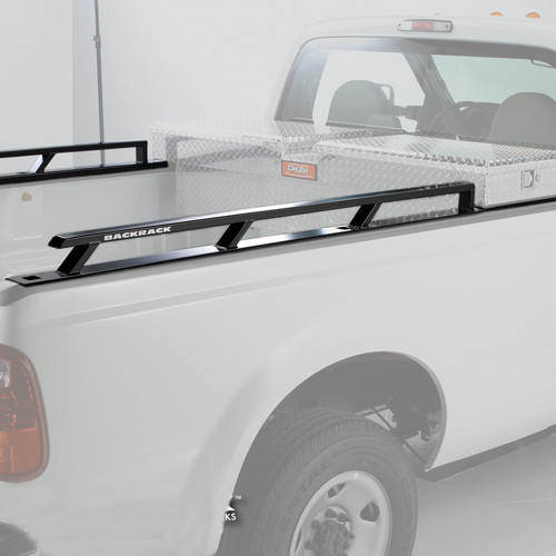 BackRack Industrial Grade Toolbox Side Rails for Long Bed Pickup Trucks