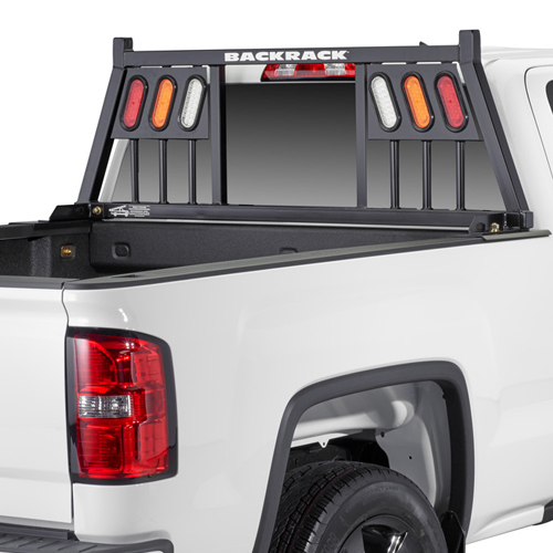 BackRack 3 Light Pickup Truck Window and Cab Guard Headache Racks