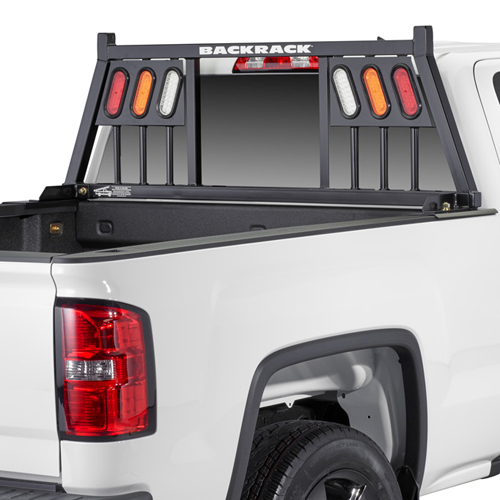 BackRack 3 Light Pickup Truck Window and Cab Guard with Toolbox Kit