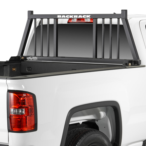 BackRack 3 Round Bar Pickup Truck Cab Window Guard with Toolbox Kit