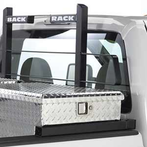 BackRack Pickup Truck Window and Cab Guard Headache Racks with Toolbox Mount Kit