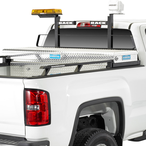BackRack Pickup Truck Window Cab Guard Headache Racks with Toolbox Kit