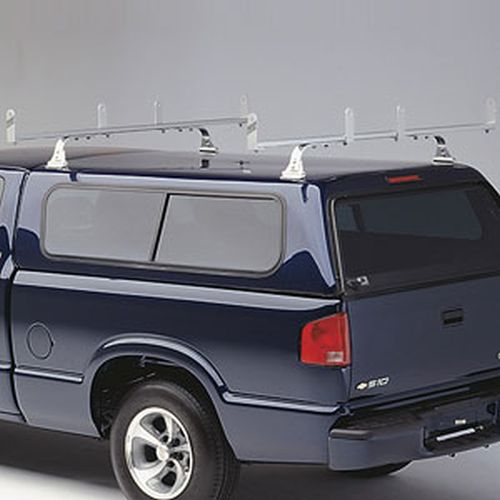 Hauler HD 2 Bar Aluminum Bolt-On Utility Ladder Rack ulrhdgv-1 for Gutterless Vans, Fiberglass Caps