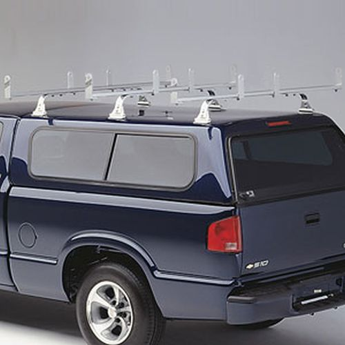 Hauler HD 3 Bar Aluminum Bolt-On Utility Ladder Rack ulrhdgv3-1 for Gutterless Vans, Fiberglass Caps