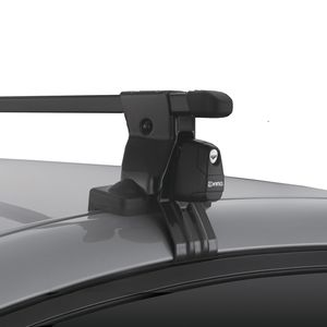 Inno INSUT Complete Black Gutterless Car Roof Rack System for Naked Rooftops