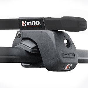 Inno Complete Black Raised Railing Car Roof Rack System INARC