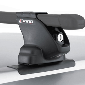 Inno INXRC Complete Black Car Roof Rack for Factory Fixed Points and Tracks