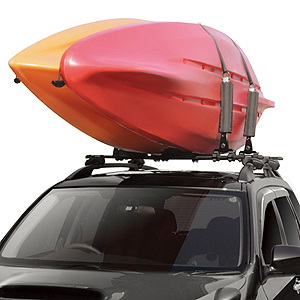 Inno ina450 Fold Down 2 Kayak Rack Vertical Kayak Carrier for Car Roof Racks