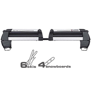 Inno rh708 High Type Ski Racks Snowboard Carriers for Factory Raised Railings