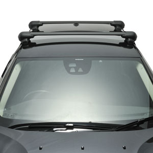 Inno Honda Fit 2007 - 2008 Complete XS201 Black Flush Aero Bar Car Roof Rack