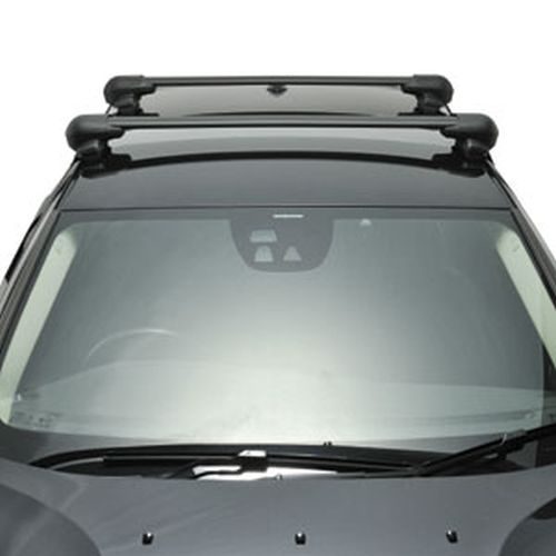 Inno Nissan Frontier Crew Cab 2000 - 2003 Complete XS201 Black Flush Aero Bar Car Roof Rack