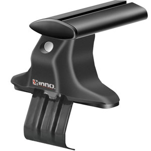 Inno Bmw 5-Series 4dr 2011 - 2015 Complete XS250 Black Aero Through Bar Car Roof Rack