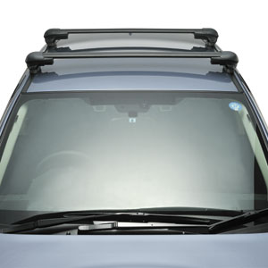 Inno Mazda CX-7 2007 - 2012 Complete XS300 Aero Bar Roof Rack for Factory Fixed Points and Tracks