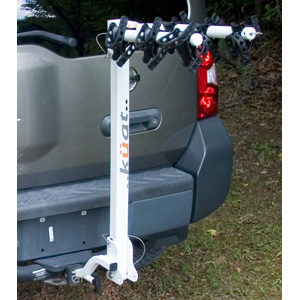 Kuat Alpha 3 Bike Hitch Mounted Bicycle Rack, White