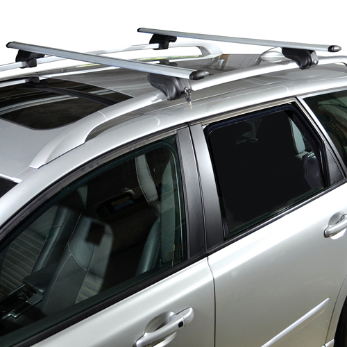Malone AirFlow2 50 Aluminum Raised Rail Roof Rack and Locks mpg215