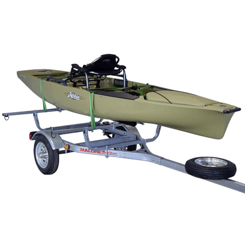 Malone mpg461b1 MicroSport Trailer with Spare Tire Kit and Bunk Style Carriers