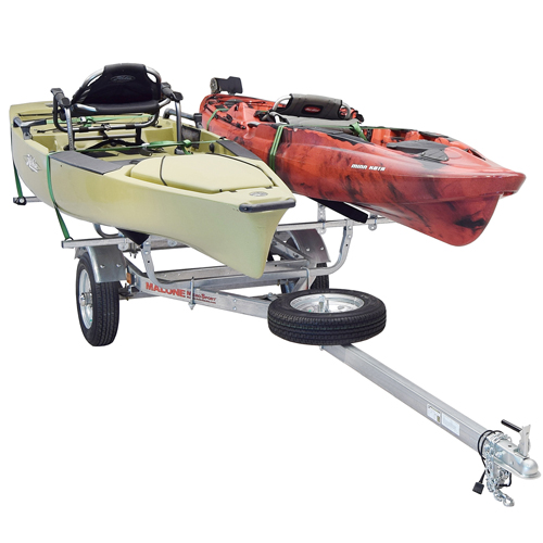 Malone MicroSport Trailer mpg461b2 with Spare Tire Kit and 2 Sets of Bunk Style Carriers