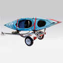 Malone mpg461g2 MicroSport Trailer with Spare Tire, J-Pro 2 Kayak Carriers