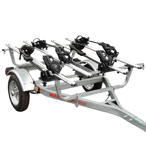 Malone mpg462b4 MicroSport Trailer, Spare Tire Kit, 4 Tray Style Bike Racks