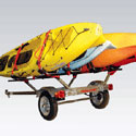 Malone MicroSport 78 Trailer mpg462g2 with Spare Tire Kit, 4 J-Pro II Kayak Carriers