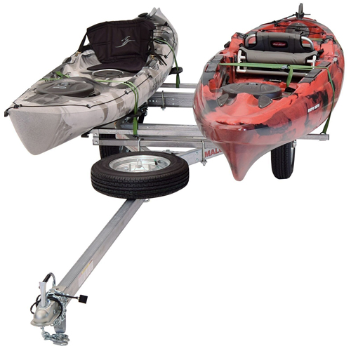 Malone mpg464-lbm MicroSport LowBed Kayak Trailer, 2 MegaWing Package
