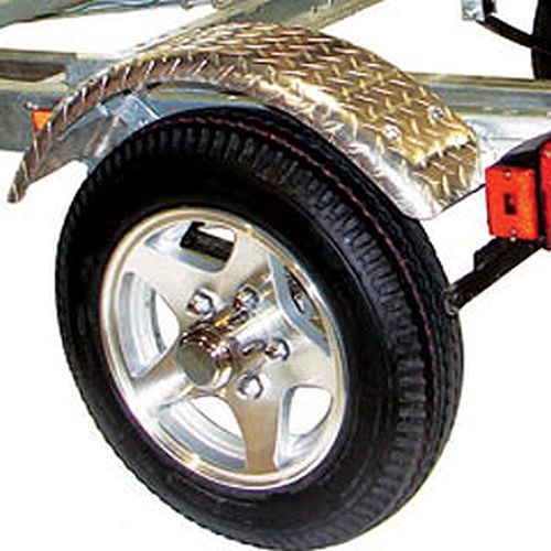 Malone MPG496 MicroSport Trailer Aluminum Spoke Wheels and Diamond Tread Fenders Upgrade Kit