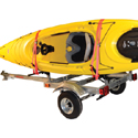Malone XtraLight Trailer mpg526g-j for 2 Medium Recreational Kayaks , 2 J-Style Kayak Rack Systems