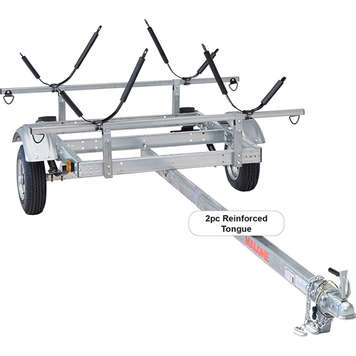 Malone mpg526g-j XtraLight Trailer for 2 Kayaks, 2 J-Style Kayak Racks