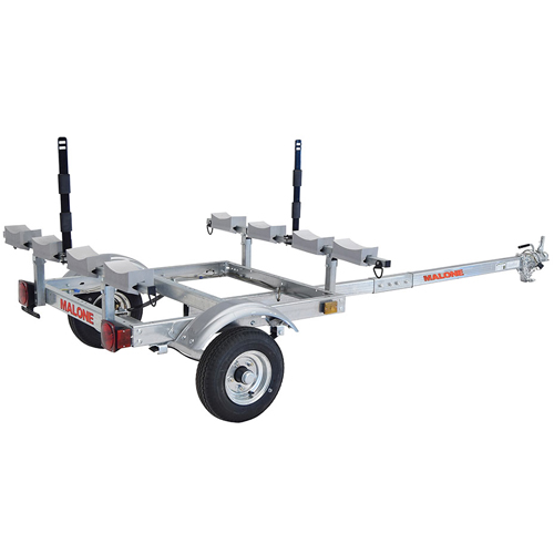 Malone mpg526g-l MicroSport XtraLight Trailer, 4 Kayak Carrier Package