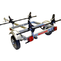 Malone mpg526g-s XtraLight Trailer for 1 Large Recreational or Fishing Kayak with Saddles