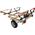 Malone mpg526g-v MicroSport XtraLight Trailer, 2 V-Style Kayak Carriers