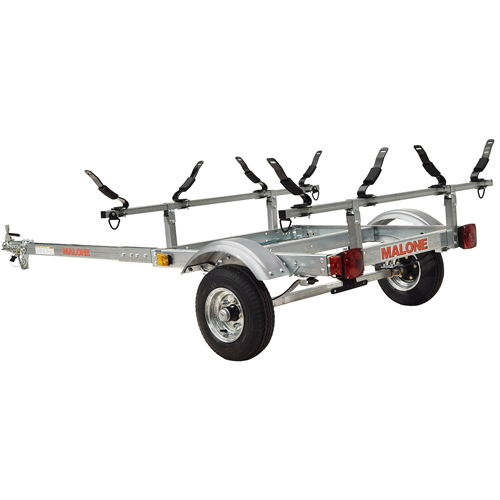 Malone mpg526g-v XtraLight Trailer, 2 V-Style Kayak Racks
