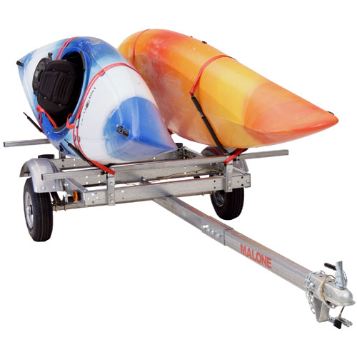 Malone mpg586xj EcoLight Trailer and 2 J-Style Carriers for 2 Kayaks