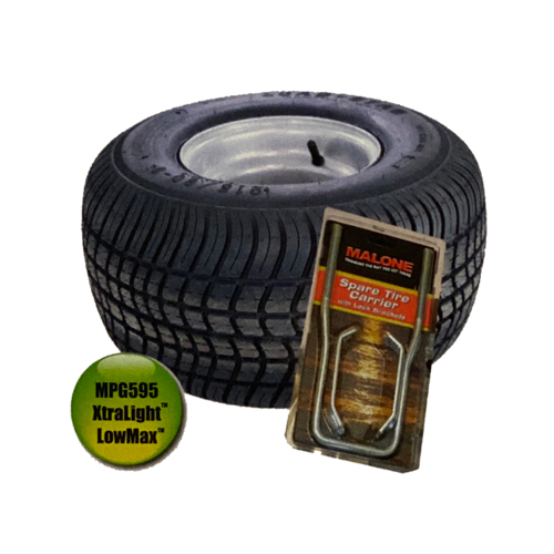 Malone mpg592 XtraLight LowMax Spare Tire Kit for LowMax Trailers