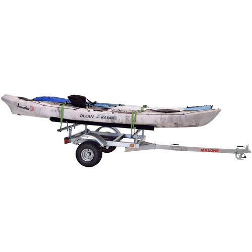 Malone mpg596xb2 XtraLight LowMax Trailer with 2 Sets of Kayak Bunks