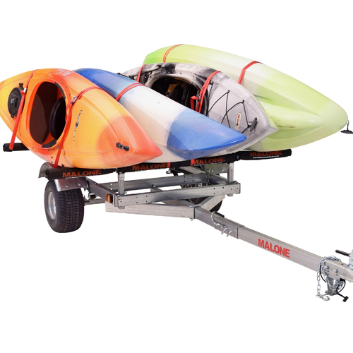 Malone mpg596xsrp XtraLight LowMax Trailer with 2 Kayak Stackers, Pads