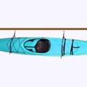 Single Hull Hanging Storage Racks for Kayaks, SUPs, Surfboards, Windsurfers
