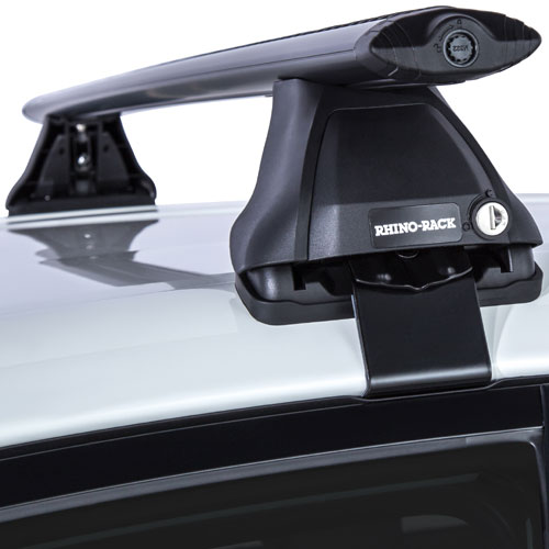 Rhino Rack Toyota Prius C 2012   2014 2500 Series Black Aero Bar Car Roof  Rack   RackWarehouse.com
