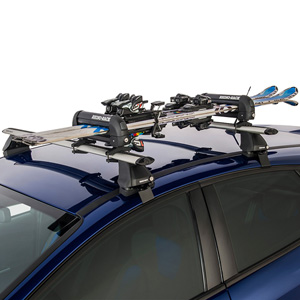 Rhino-Rack 572 Black Locking 2 Pair Ski Rack, Snowboard Carrier, Fishing Rod Holder