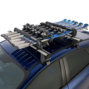 Rhino-Rack 576 Black Locking 6 Pair Ski Rack, 4 Snowboard Carrier, Fishing Rod Holder