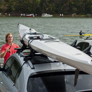 Rhino-Rack Nautic 580 Side Loading Kayak Carrier Saddles slide into most Aero Crossbars
