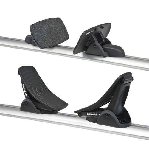 Rhino-Rack Nautic 581 Rear Loading Kayak Carrier Saddles slide into most Aero Crossbars