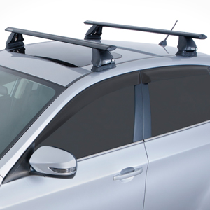 Rhino-Rack Hyundai Santa Fe 2013 2500 Series Black Aero Crossbar Car Roof Rack