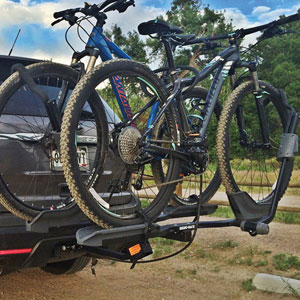 Rhino-Rack Dual Trekker rbc048 Platform Style 2 Bike Hitch Rack for 2 and 1.25 Receivers