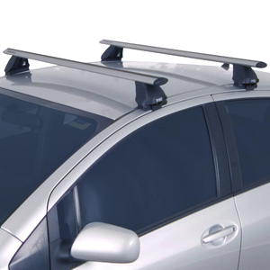 Rhino-Rack Toyota Prius C 2012 - 2013 2500 Series Silver Aero Crossbar Car Roof Rack