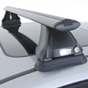 Rhino-Rack VORTEX 2500 Complete Black Car Roof Rack System for Naked Roofs