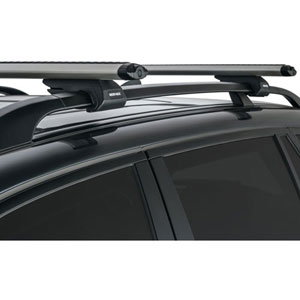Rhino-Rack sxb-silv Vortex Series Silver Raised Railing Mount Aero Crossbar Car Roof Rack System